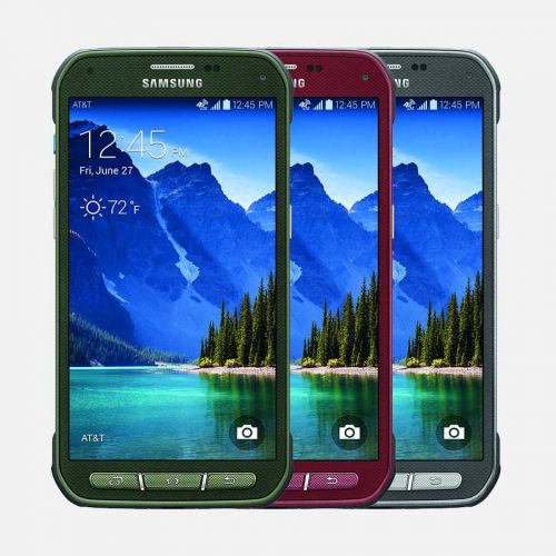Samsung S5 Active Green, Red and Gray