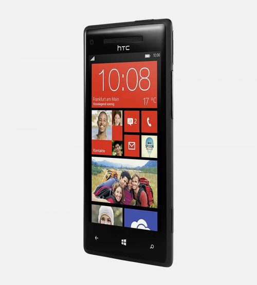 HTC 8x Windows Black Tilted