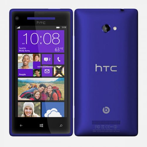 HTC 8x Windows Purple Front Back