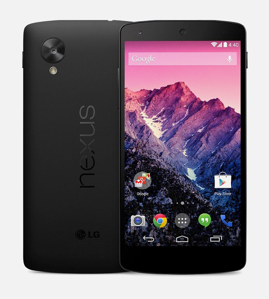 LG Nexus 5 Black Front Back 2