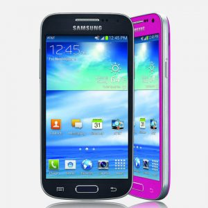Samsung S4 Mini Black and pink on white background