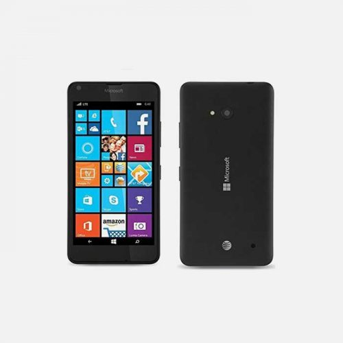 Nokia Lumia 640 RM-1073 Black front and back