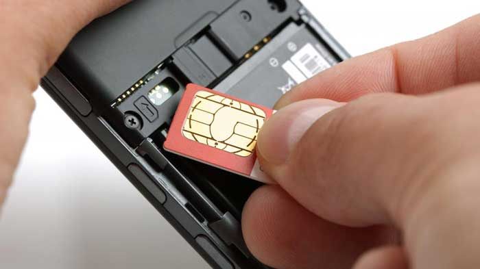 Inserting a GSM sim into a mobile device