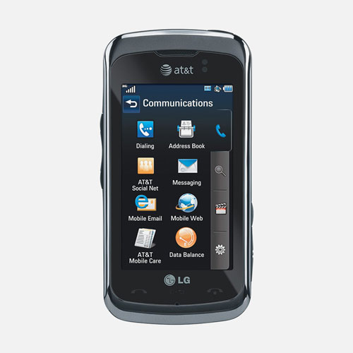 Front View of LG Encore 3G