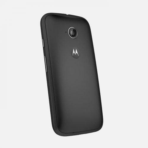 Motorola Moto E Black Tilted Back