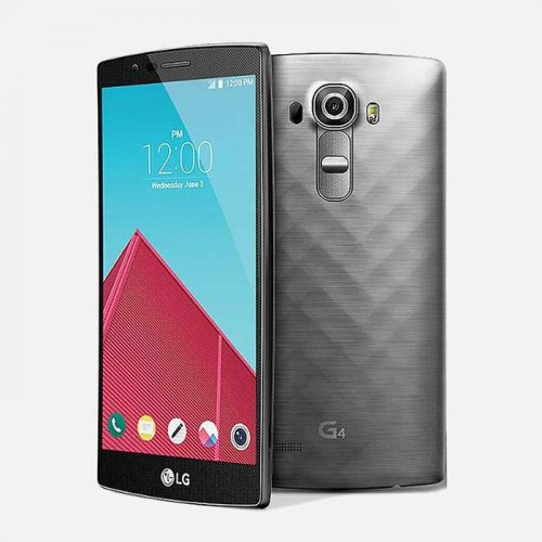 Gray LG G4 Tilted Front View and Back