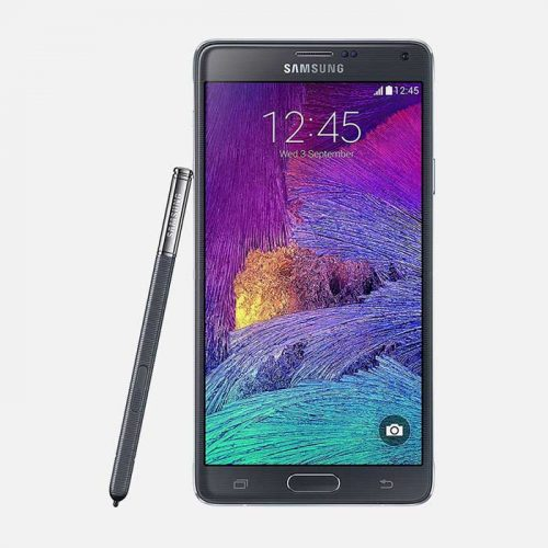 Samsung Galaxy Note 4 Black Front View with Pen