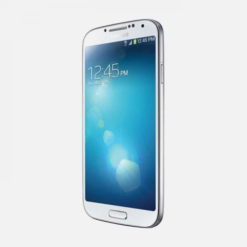 Samsung Galaxy S4 White Front Tilted