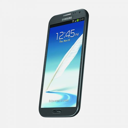 Samsung Galaxy Note 2 Titled to the Left