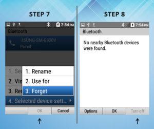 Kyocera DuraXE Bluetooth Removal 7-8