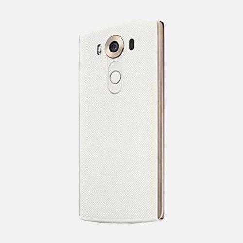 LG V10 White/Gold Back Tilted