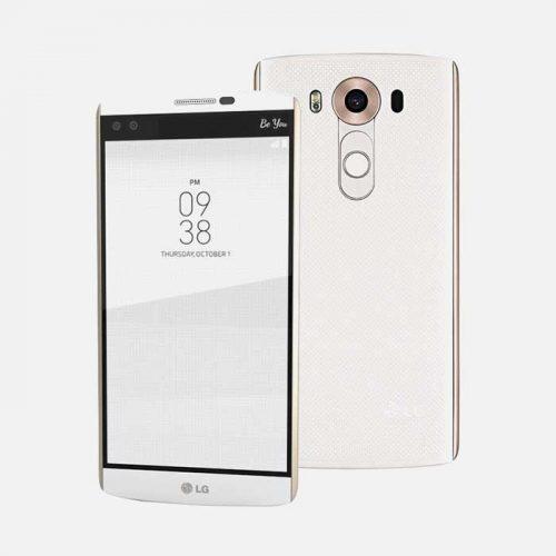 LG V10 White/Gold Front & Back