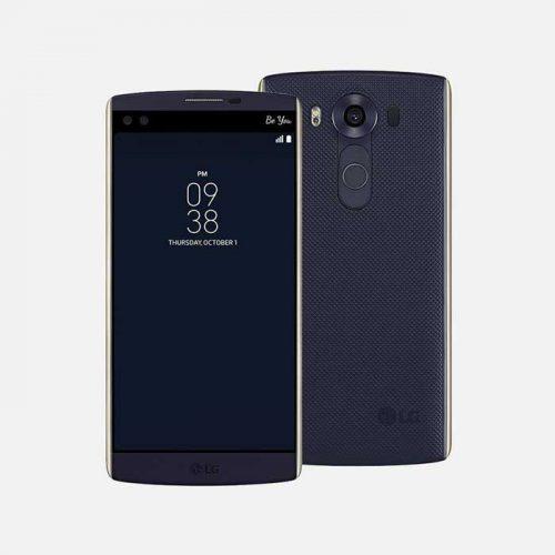 LG V10 Blue Front & Back