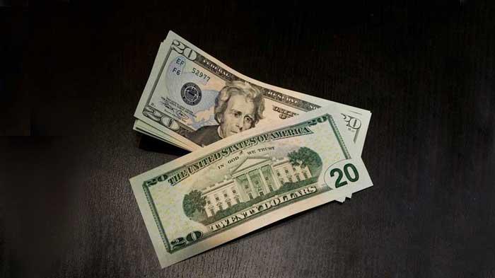 $20 Cash bills in pile
