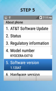 Kyocera DuraXE Software Version 5