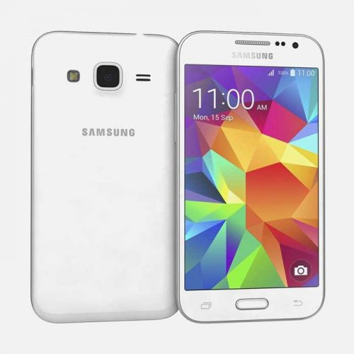 Samsung Galaxy Core Prime White Front and Back