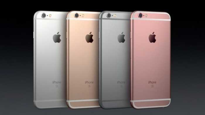 iPhone in 4 colors, black background