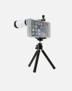 Smartphone on stand and lens - CamKix