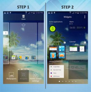 Samsung Galaxy S5 Active Add Widget 1-2