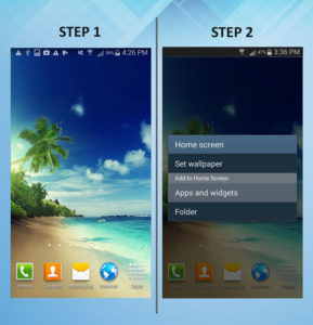 Samsung Galaxy S3 Add Widget 1-2