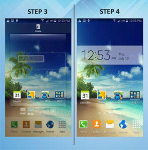 Samsung Galaxy S5 Active Add Widget 3-4