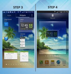 Samsung Galaxy S3 Add Widget 3-4