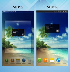 Samsung Galaxy S3 Add Widget 5-6
