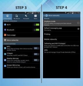 Samsung Galaxy Mega 6.3 Airplane Mode 3-4