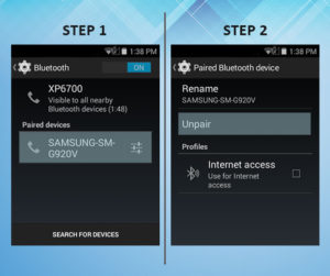 Sonim XP6 Troubleshooting Unpair Bluetooth 1-2