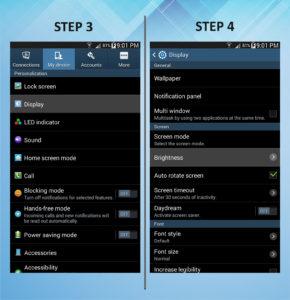 Troubleshooting Samsung Galaxy Mega 6.3 Brightness 3-4