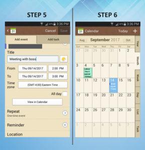 Samsung Galaxy S3 Calendar Event 5-6