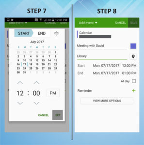 Samsung Galaxy S5 Active Calendar Event 7-8