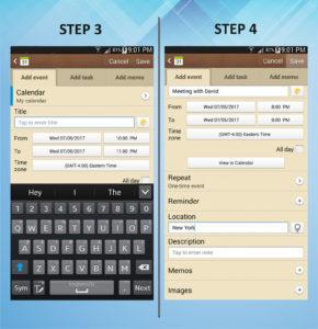 Samsung Galaxy Mega 6.3 Calendar Event 3-4