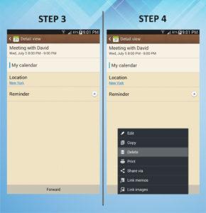 Samsung Galaxy Mega 6.3 Calendar Event Delete 3-4