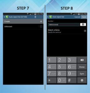 Samsung Galaxy Mega 6.3 Caller Barring 7-8
