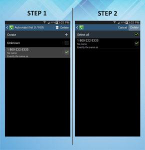 Samsung Galaxy Mega 6.3 Caller Barring Delete 1-2