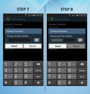 Samsung Galaxy S3 Call FWD 7-8