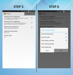 Samsung Galaxy Mega 6.3 Clear Cache 5-6