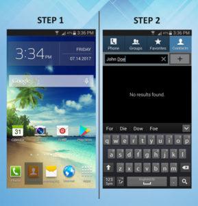 Samsung Galaxy S3 Create Contact (2) 1-2
