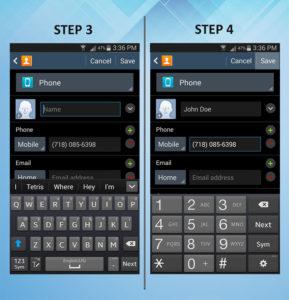 Samsung Galaxy S3 Create Contact (2) 3-4