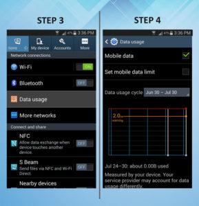 Samsung Galaxy S3 Data Usage 3-4