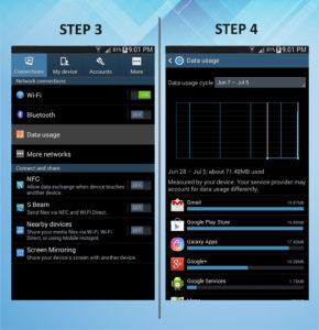 Samsung Galaxy Mega 6.3 Data Usage 3-4