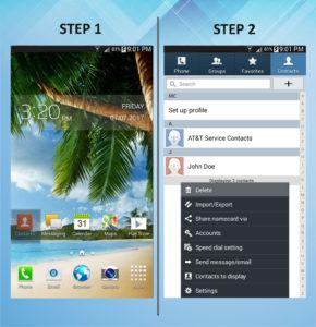 Samsung Galaxy Mega 6.3 Delete Contact 1-2