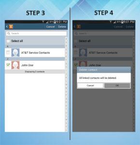 Samsung Galaxy Mega 6.3 Delete Contact 3-4