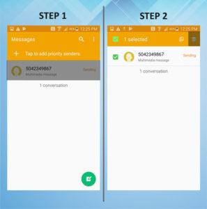 Samsung Galaxy S5 Active Delete Messages (2) 1-2