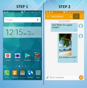 Samsung Galaxy S5 Active Delete Messages (1) 1-2