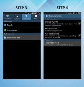 Troubleshooting Samsung Galaxy Mega 6.3 Factory Reset 3-4