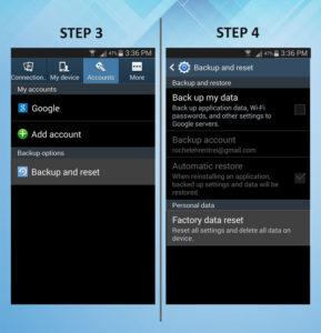 Samsung Galaxy S3 Factory Reset 3-4