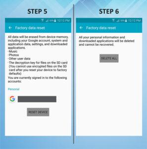 Samsung Galaxy S5 Active Factory Reset 5-6