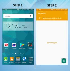 Samsung Galaxy S5 Active Send Text 1-2